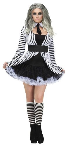 Womens Beetlegeuse Halloween/80s Outfit (Small / Medium)