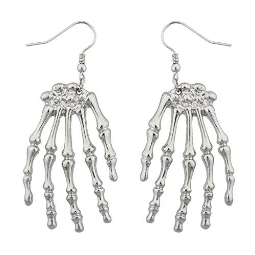 Lux accessori con mano di scheletro di Halloween-Orecchini pendenti, stile Goth