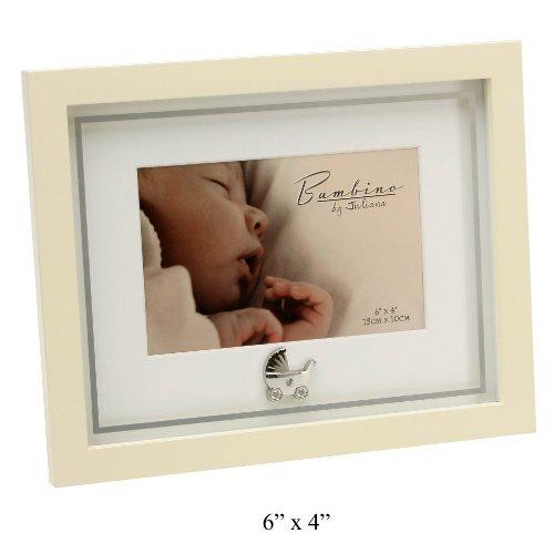 "Bambino CG882 Baby Photo Frame (6"" x 4""), Silver Charm"