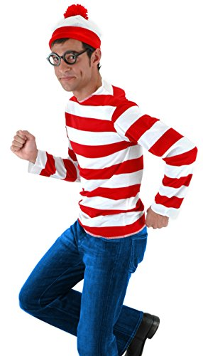 Where's Waldo Costume Kit Adult Waldo Costume 400132