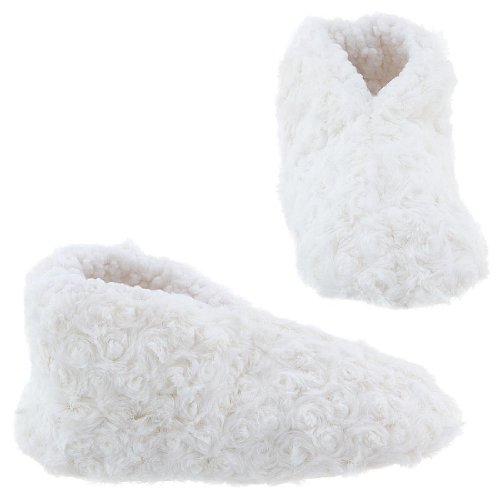 Cheap GMI Snuggle Feet White Slippers for Women (B009TH1MZM)