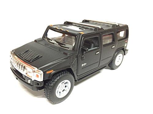 2008 H2 Hummer SUV Matte Black 1:40 Scale