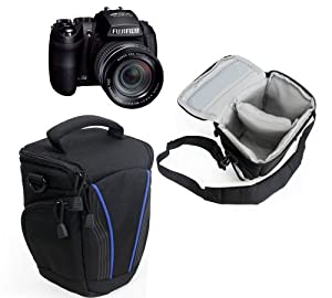 Navitech - housse / etui/ appareil photo pour le Fuji film X-S1, Fuji film FinePix HS30EXR, Fuji film FinePix HS25EXR, Panasonic Lumix G DMC-GH3, Panasonic Lumix G DMC-GH2, Panasonic Lumix DMC-FZ200