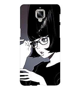 EPICCASE black lady Mobile Back Case Cover For OnePlus Three (Designer Case)