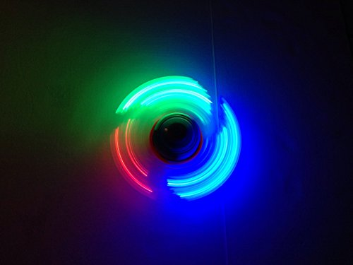 Battery operated magic light up spinner top toy toys games for Light up fishing spinners