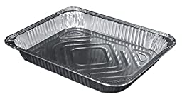Durable Packaging 4300-100 Aluminum Steam Table Pan, Half-Size, Shallow, 1-11/16\