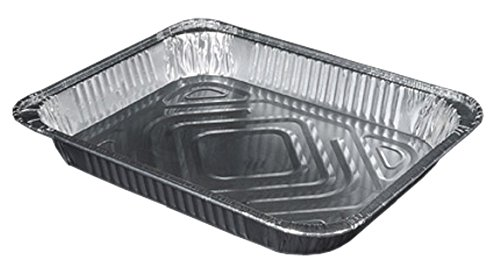 Durable Packaging 4300-100 Aluminum Steam Table Pan, Half-Size, Shallow, 1-11/16