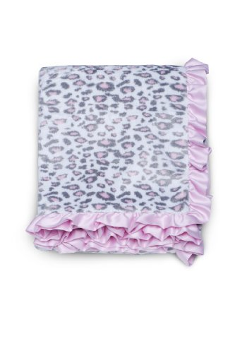 Carter's Printed Velour Sherpa Blanket, Pink Cheetah (Discontinued by Manufacturer)