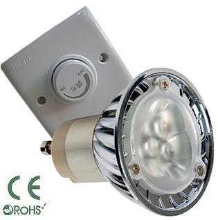 Glb Gu10 3 Watt Led Bulb With Dimmer, Pure Or Warm White