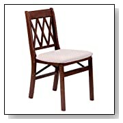 Wood Folding Chairs Upholstered Seat