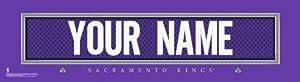 NBA Sacramento Kings Official Personalize League Jersey Stitch Print Black Frame by You