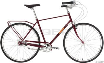 Civia Twin City Step Over Complete Bike Nexus 7-Speed XL Red