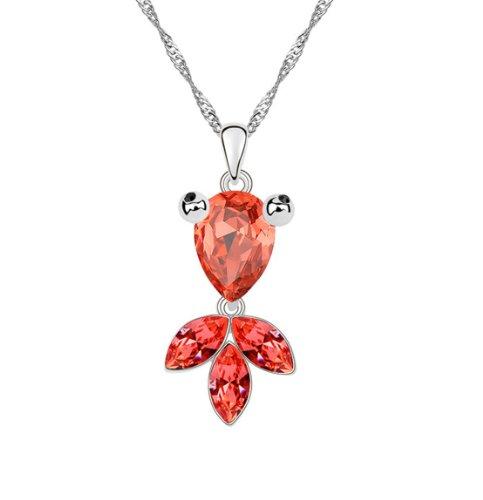 Boxingcat Fine Jewelry Swarovski Style Clear Austrian Crystal Pendant Necklaces Bgca6783 front-858771
