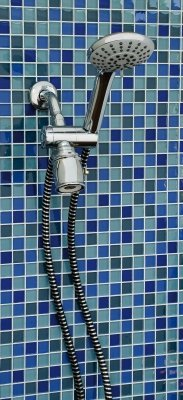 Lumex Deluxe Hand Held Shower Head Chrome with 6 Spray Options and 84 Inches Reinforced Hose, Chrome