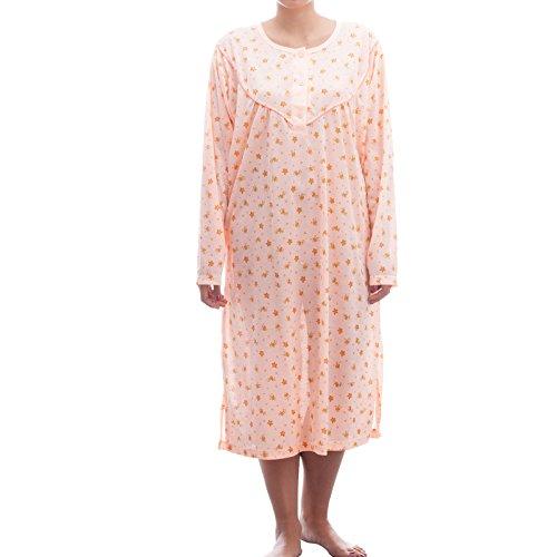 lucky-chemise-de-nuit-a-manches-longues-avec-imprime-dans-de-grandes-tailles-3xl-homme-orange-60