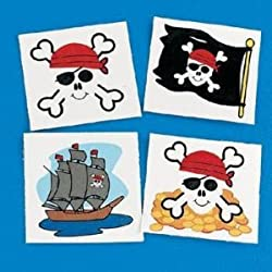 [Best price] Novelty & Gag Toys - Pirate Tattoos Favors 36 per package [Toy] - toys-games