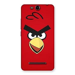 Impressive Red Bird Yellow Beak Back Case Cover for Micromax Canvas Juice 3 Q392