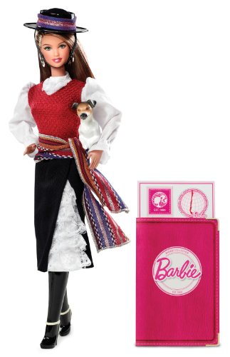 Barbie Collector # W3494 Dolls of the World Chile Picture