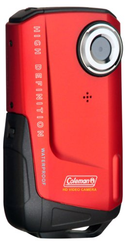 Coleman CVW9HD-R Xtreme Video Full 1080p HD Wateproof Camcorder with HDMI and 2-Inch LCD (Red)