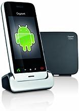 Siemens SL930A - Teléfono fijo digital (Contestadora incluida, enchufar y usar, llamada por voz, pantalla táctil), plateado (importado)