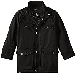 Urban Republic Big Boys\' Military Coat With Vestee, Black, 8