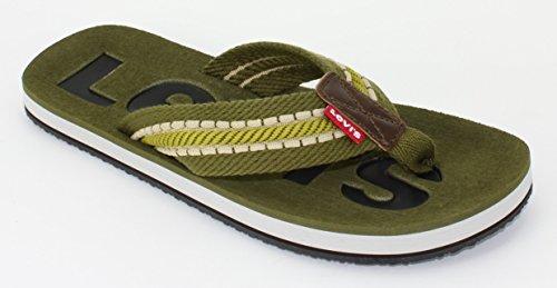 Levis Jeans Kyle Men's Thong Sandals Flip Flops Green Size 7