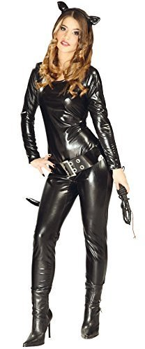 Da Donna Sexy Nero Cat Catwoman Batman Superhero Villain Costume Halloween Outfit 10-12