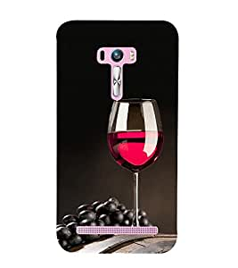 Grapes and Wine 3D Hard Polycarbonate Designer Back Case Cover for Asus Zenfone Selfie ZD551KL
