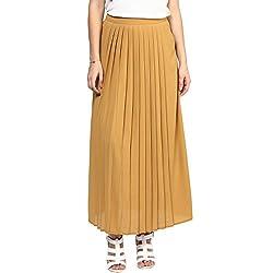 RARE Long Beige Georgette Skirt for women