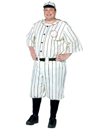 Original Plus Size Old Tyme Baseball Player Costume (Fabric feels like stiff felt)
