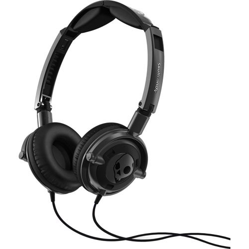 Skullcandy Lowrider 2.0 On-Ear Headphones with Mic - Gun Metal/Black