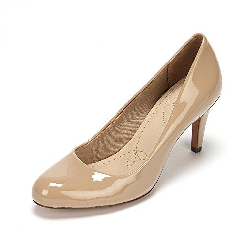 Clarks Carlita Cove - Scarpe con Tacco Donna, colore beige (sand patent), taglia 36 EU