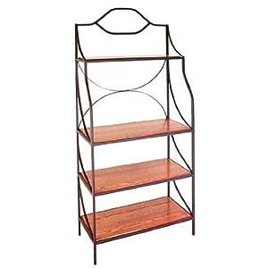 36 bakers rack wood or glass shelves - Glass free standing shelves ...