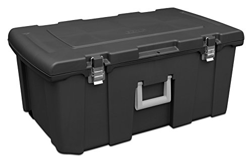 sterilite-18429001-footlocker-black-w-titanium-handle-galvanized-steel-latches-1-pack