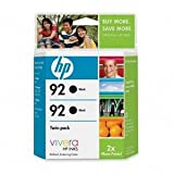 HP 92 C9512FN140 Ink Cartridge in Retail Packaging, Twin Pack-Black