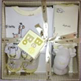 Bee Bo Gift Set 0-3 months - 1 Body Suit, 1 Small Teddy, 1 Pair of Bootees and a Bib (Lemon)