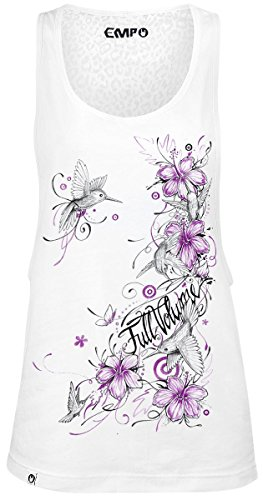 Full Volume by EMP Hibiscus Colibri Top donna bianco XS