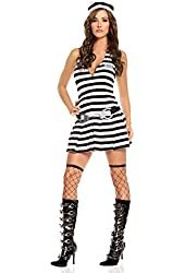 Sexy Irresistible Inmate Prisoner Adult Roleplay Costume