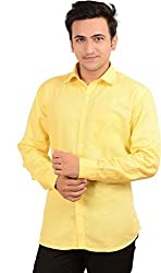 Men's Shirt Yellow Slim Fit (X-Large)