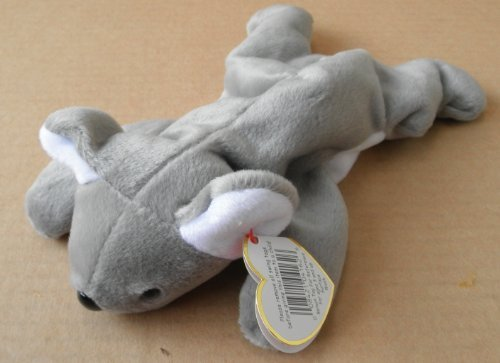 TY Beanie Babies Mel the Koala Bear Stuffed Animal Plush Toy - 8 inches long - Gray - 1