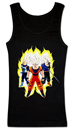 Dragon Ball Z Super Saiyans Women's Tank Top Shirt Large
