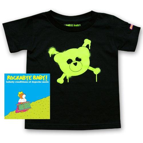 Rockabye Baby Lullaby Renditions of Depeche Mode Rockabye Baby 100 Organic Cotton Toddler T Shirt Green