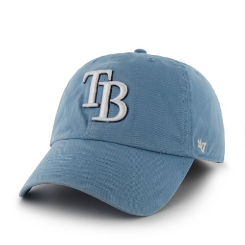 Mlb Tampa Bay Rays '47 Brand Clean Up Adjustable Cap, One Size, Columbia front-989199