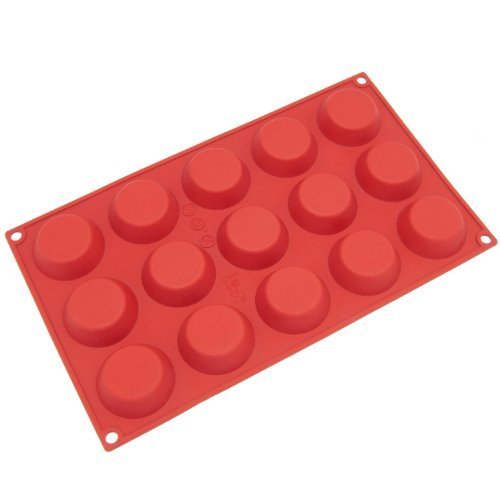 Freshware 15-Cavity Mini Cheesecake, Pudding, Tart, And Muffin Silicone Mold And Baking Pan Size: Mini Home & Kitchen