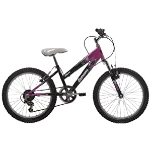 EXTREME by Raleigh Kraze Girls Girls Mountain Bike - Black/Pink, 20-inch Wheel, 11 Inch Frame
