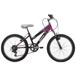 EXTREME by Raleigh Kraze Girls Girls Mountain Bike - Black/Pink, 20-inch Wheel, 11 Inch Frame
