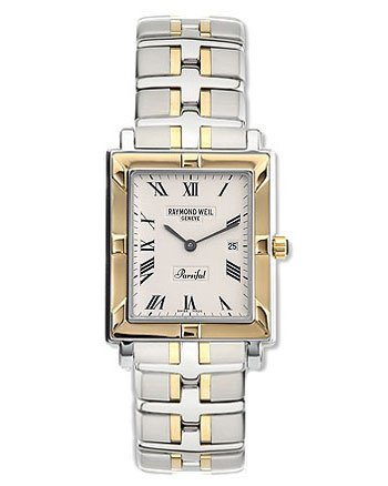 Raymond Weil 9330-STG-00800 Men's Parsifal Rectangular 18k Bracelet Watch