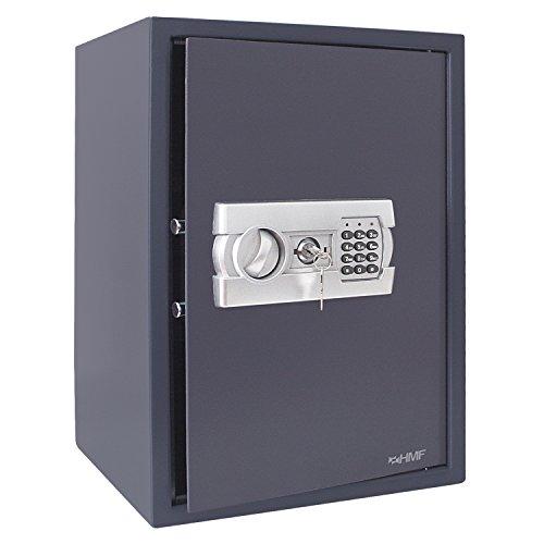 Hmf 4612512 cassaforte mobile tresoro con serratura elettronica 50 x 35 x 33 cm antracite - Mobile con serratura ...
