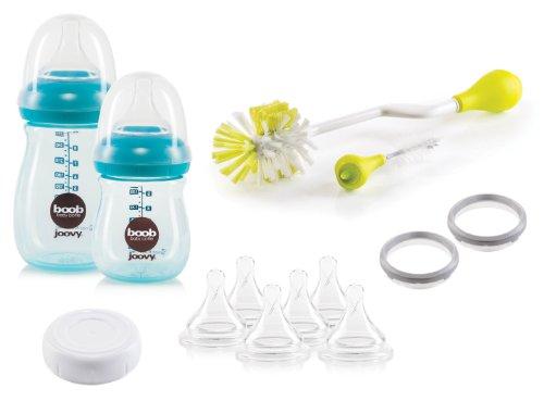 Joovy Boob PP Baby Bottle Starter Set, Turquoise