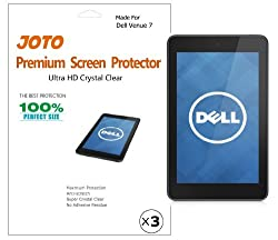 JOTO - Dell Venue 7 Android Tablet Premium Screen Protector Film Ultra Crystal Clear (Invisible) with Lifetime Replacement Warranty (3 Pack)